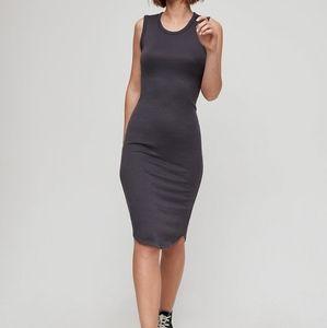Wilfred Free Bruni Midi Dress Gray Aritzia Basic
